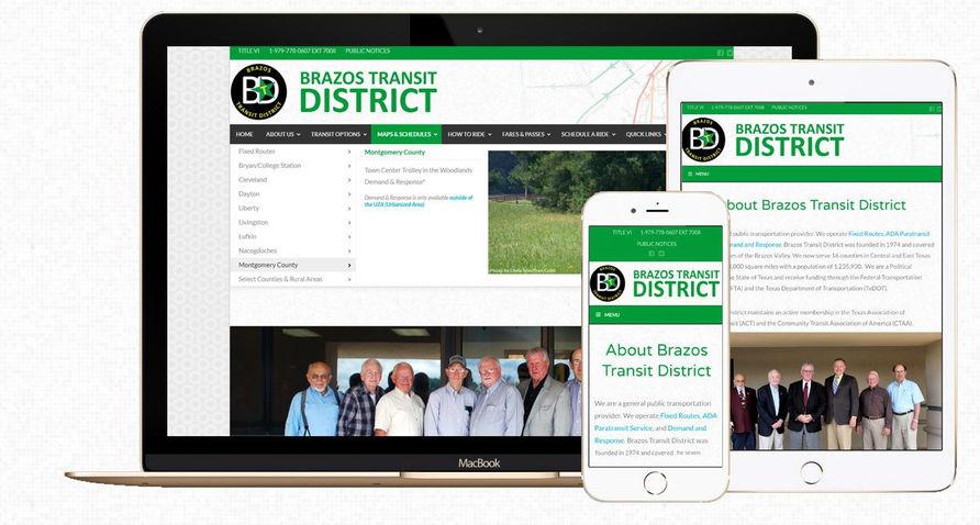 Brazos Transit District website redesign