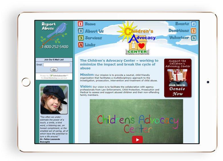 Children's Advocacy Center website