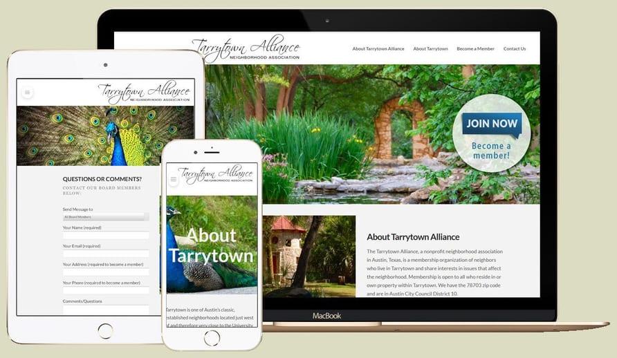 Tarrytown Alliance responsive WordPress website